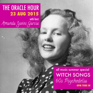 Flyer for the Oracle Hour. 23 August 2015. Image of actress Peggy Cummins.