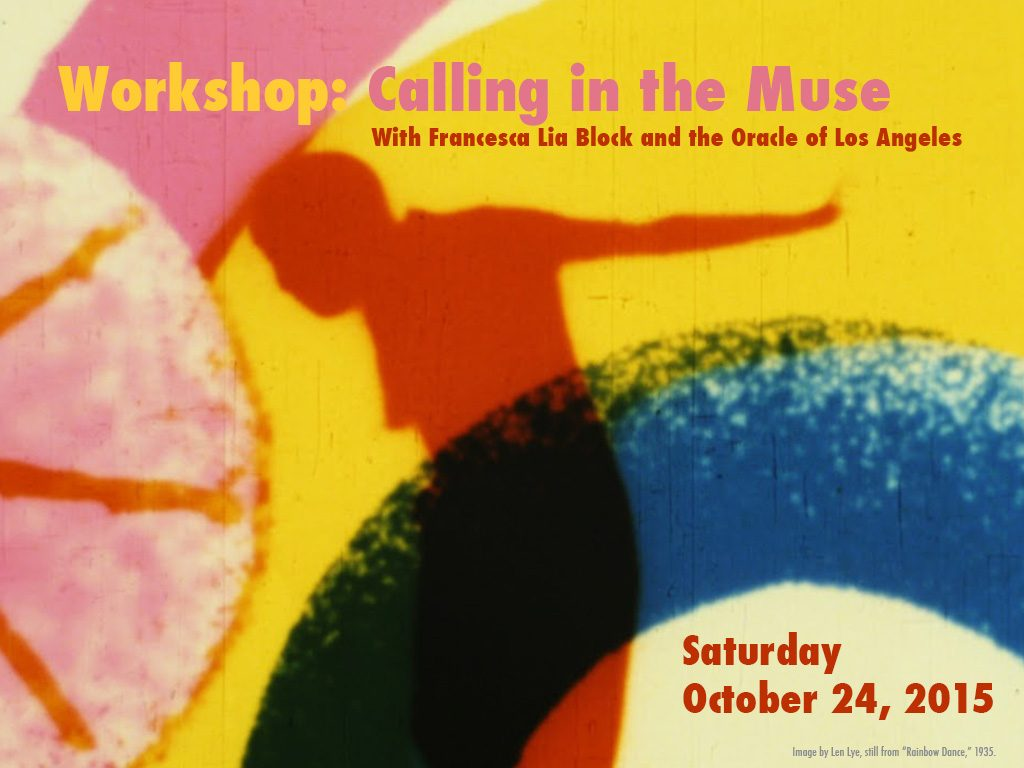 Workshop flier: Calling in the Muse