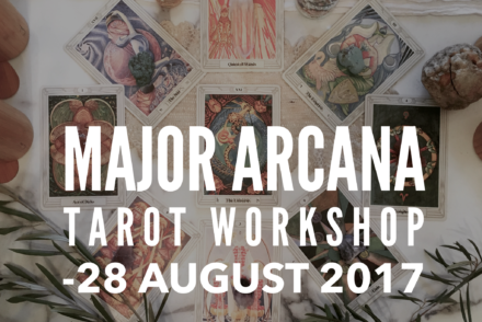 Major Arcana Tarot Workshop flier