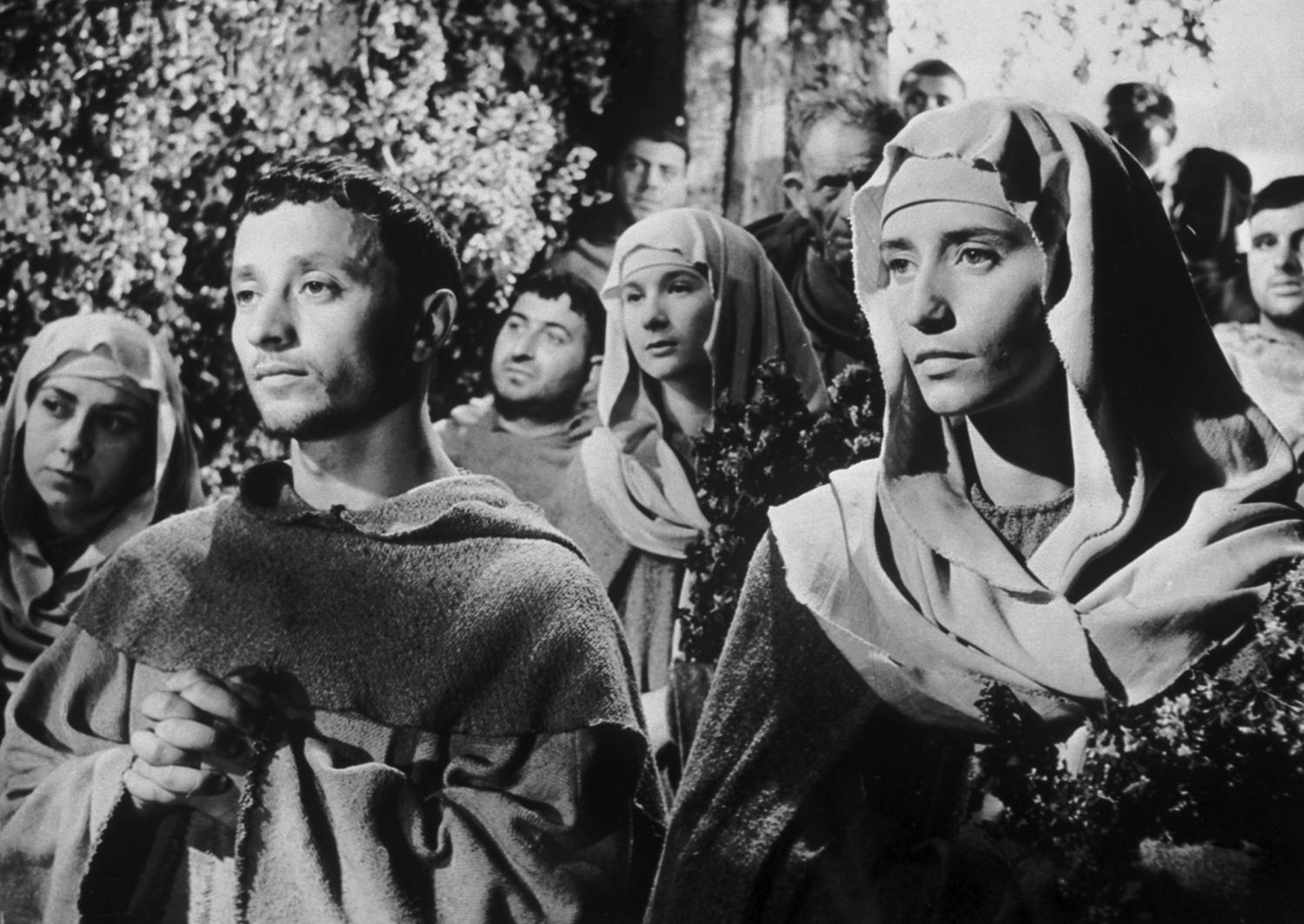 "Still from Rossellini's ""Flowers of St. Francis."""