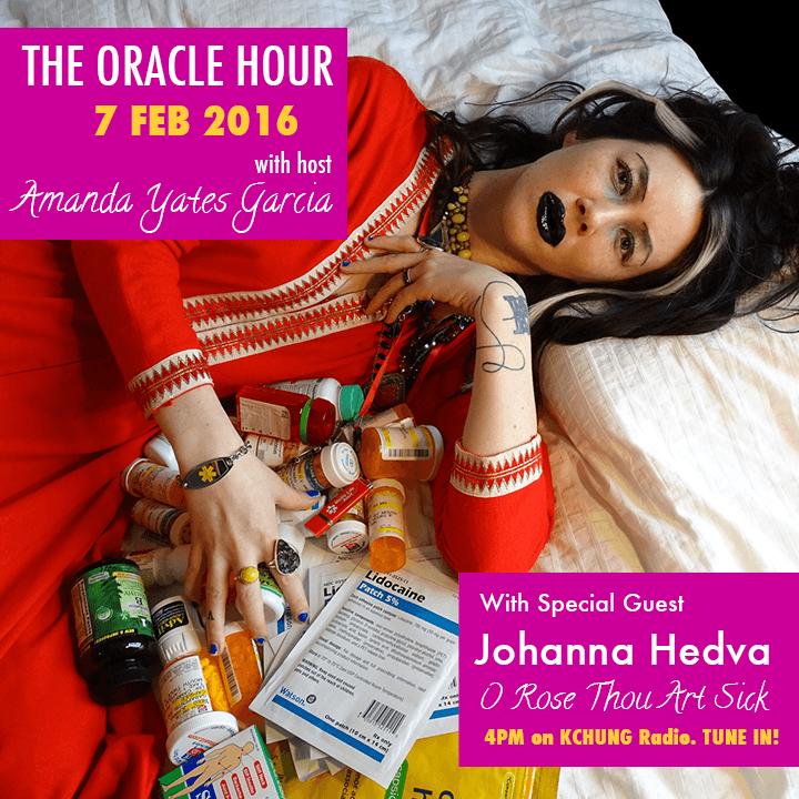 Oracle Hour flier for Johanna Hedva