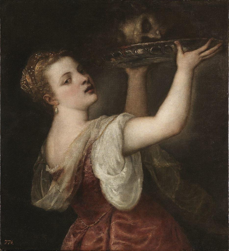 Titian's Salome - detail