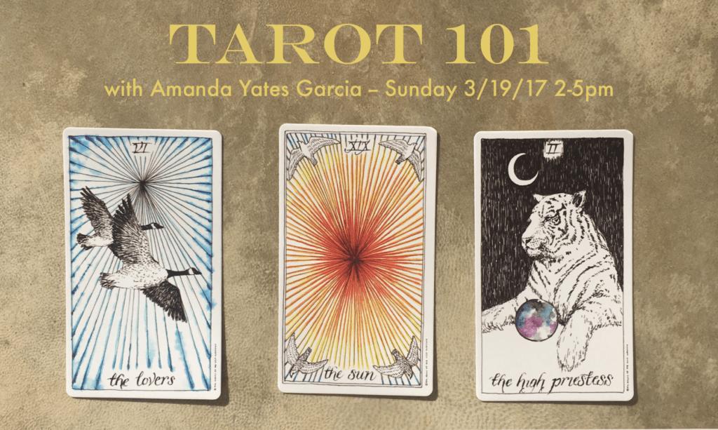 Tarot 101 Workshop Flier