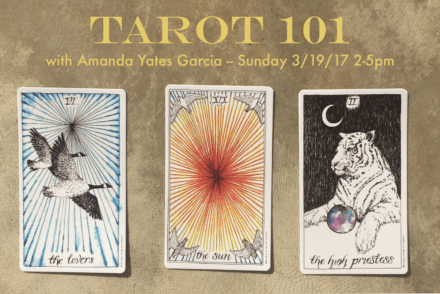 Tarot 101 Workshop Flier