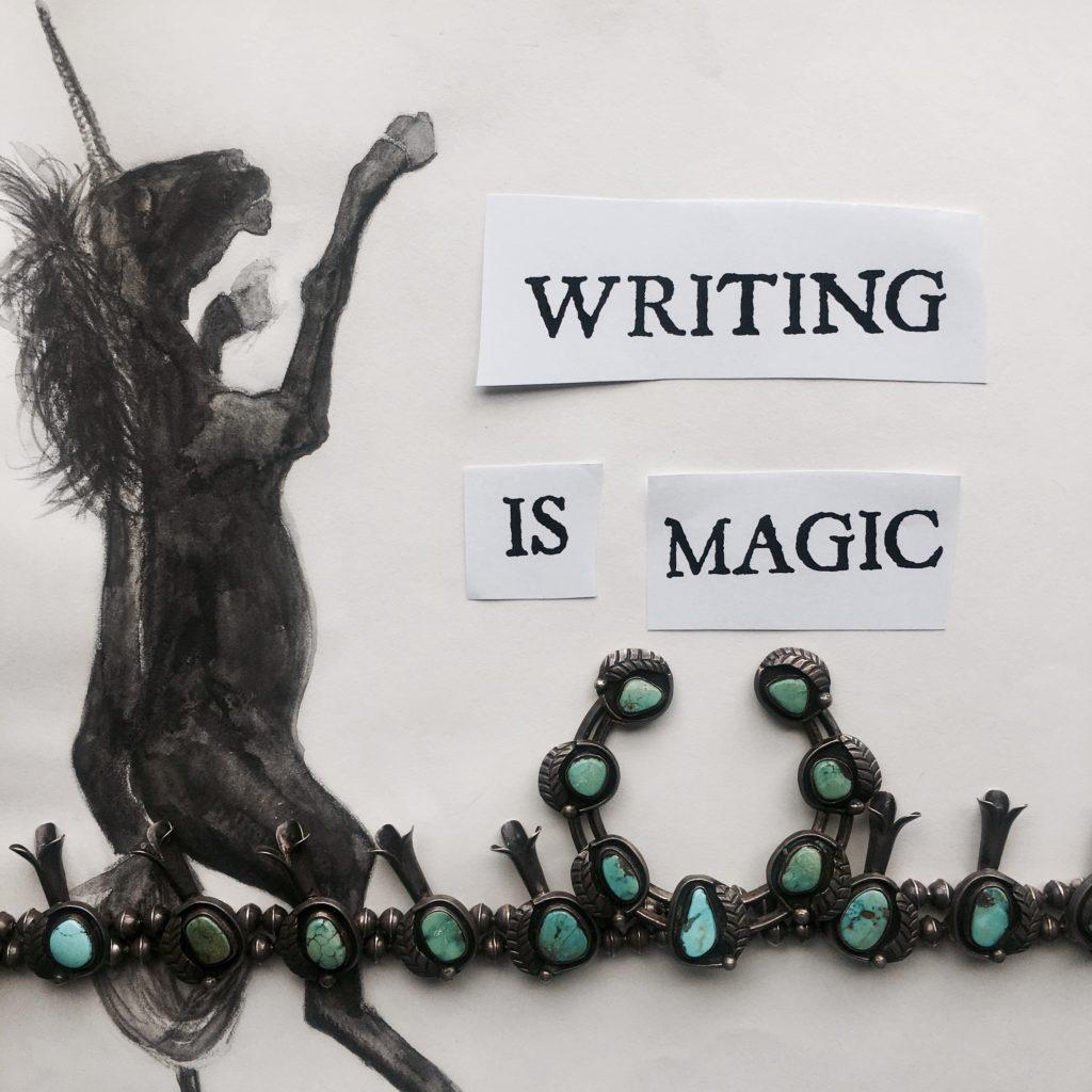 Writing Is Magic. Workshop flier. ©Oracle of Los Angeles 2017.