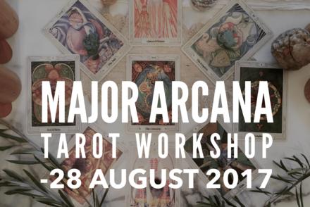 Major Arcana Tarot Workshop flier