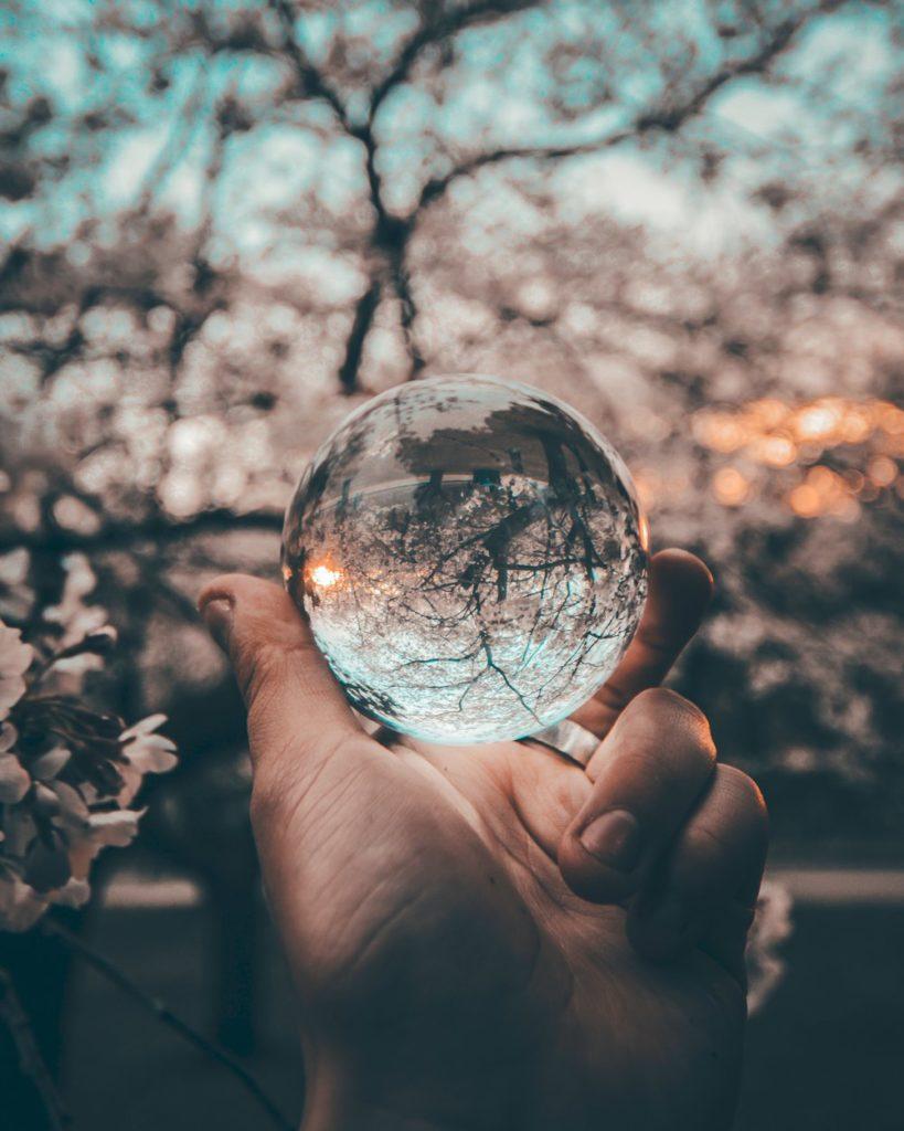 Crystal ball photo by Yeshi Kangrang