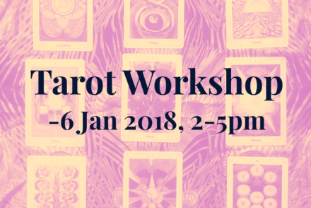 ©2018 Oracle Of Los Angeles. Flyer For Tarot Workshop At Light On Lotus Yoga Studio